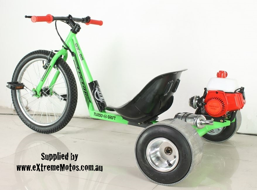 Motorised Drift Trike Petrol Power Assisted Slider Drifting Tricycle GoCart for sale