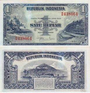 uang kuno 1 rupiah