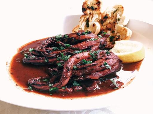 Squid Braised in Red Wine