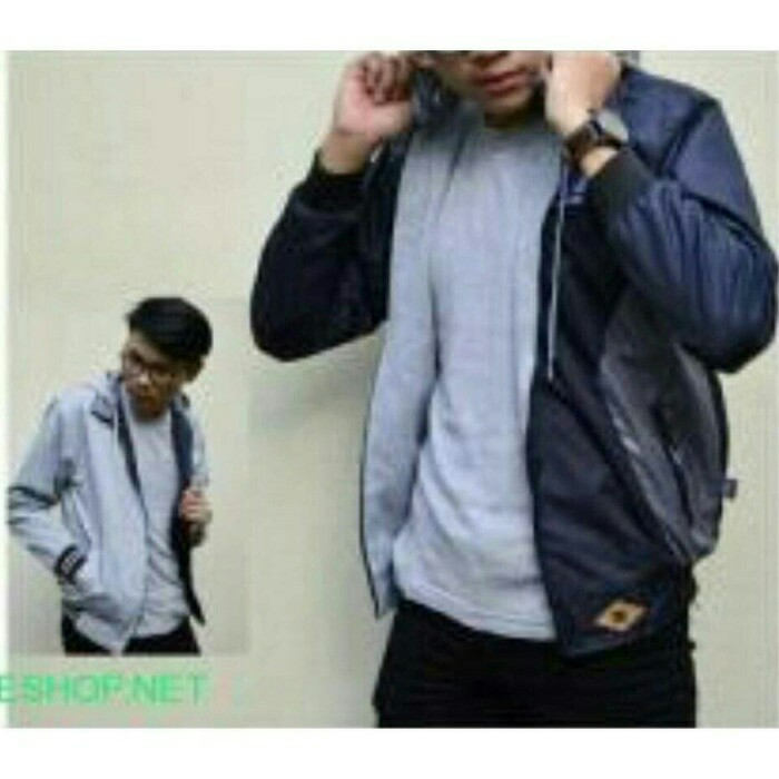 JAKET BB DC BLUE OLD - GREY