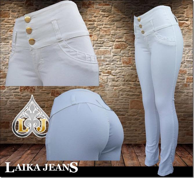 Laika Jeans Blanco liso