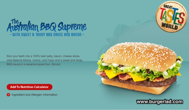 McDonald's Australian BBQ Supreme Burger Review