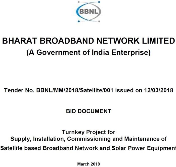 Bharat Broadband - Satellite Broadband Network - 01