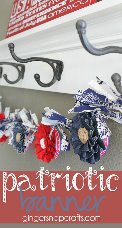 patriotic banner at GingerSnapCrafts.com #makeitfuncrafts   #sponsored