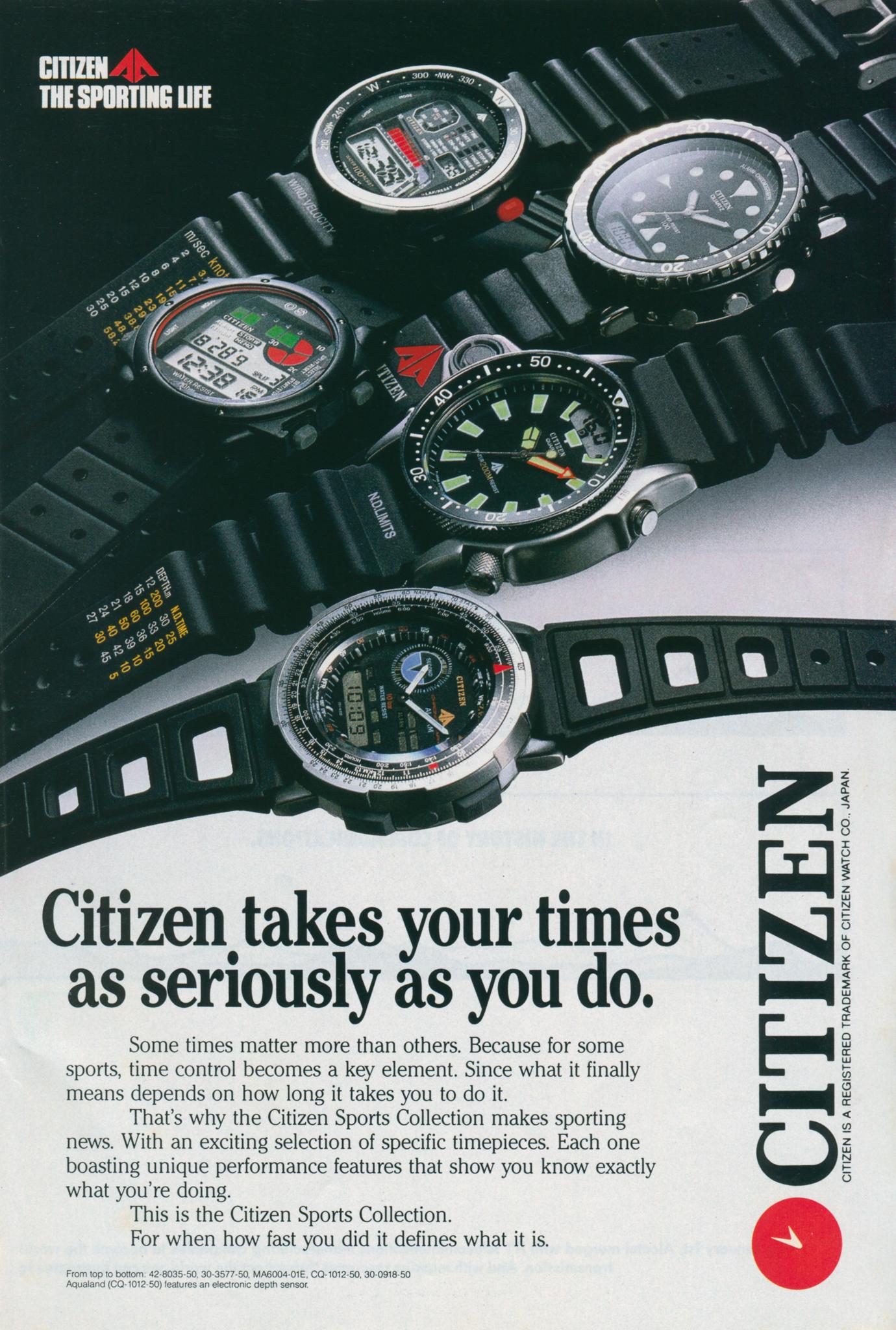 Publicidade Citizen Sports Collection - Anos 80 Citizen%2520takes%2520your%2520time%2520as%2520seriously%2520as%2520you%2520do