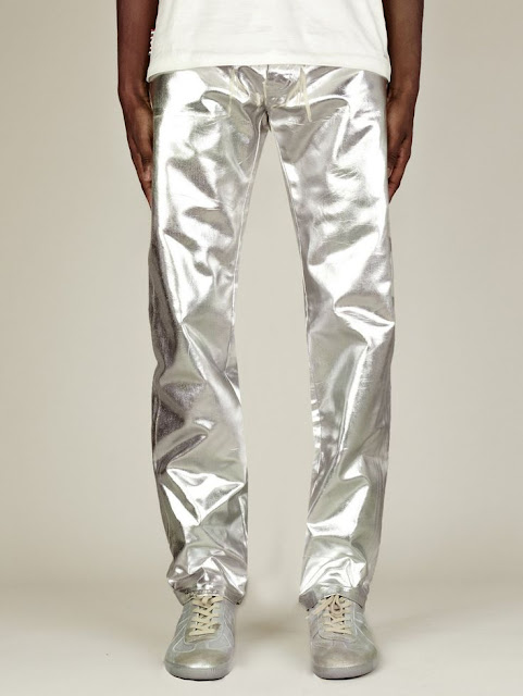 male pattern boldness: Revisiting Metallics: Silver Denim Jeans!