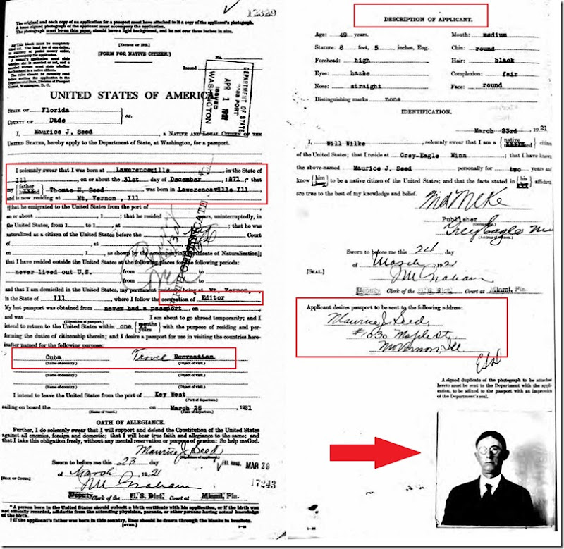 SEED_Maurice J_passport application_1921