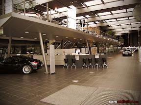Ground zero of the Porsche dealership in Stuttgart.
