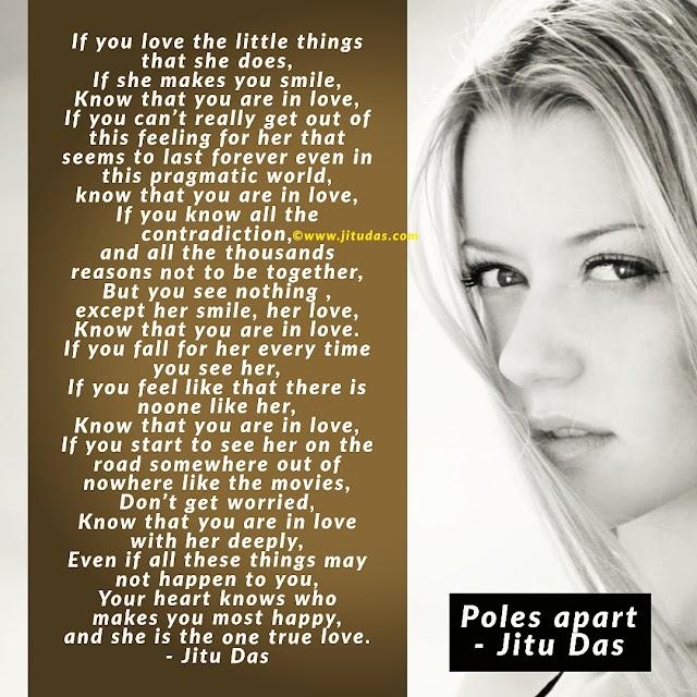 Poles aprt, love and life poem by Jitu Das English poem