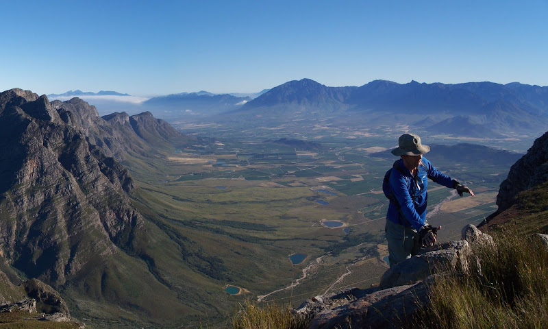 Picking my way up Slanghoek Peak - photo by Louise van der Merwe