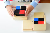 Learning How to Use the Montessori Binomial Cube