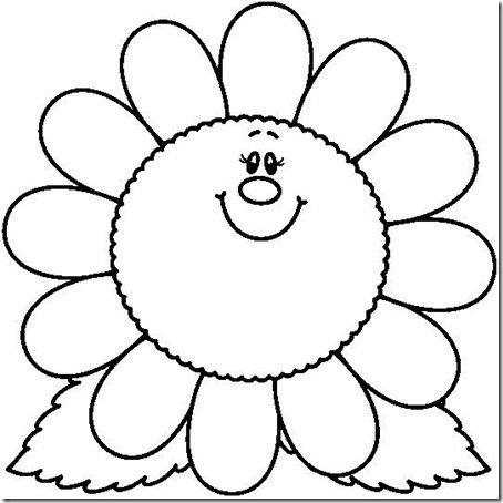 flore sencillas para colorear  (13)
