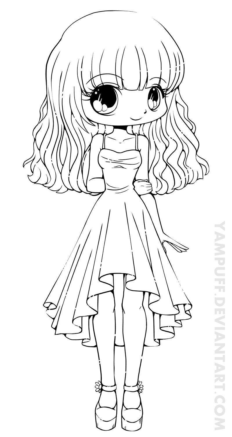 Best Free Chibi Anime Girls Coloring Pages Free Kids Children