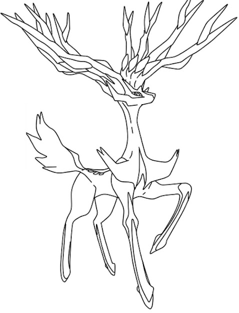 Legendary Pokemon Coloring Pages Xerneas Coloringstar Xerneas La Free By  Wolvegirl Xerneas La Free By Wolvegirl On Deviantart