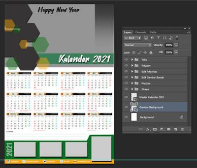 download template kalender psd