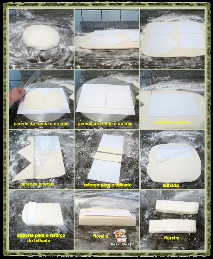 Recorte dos moldes da casinha
