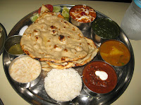 Indian food is AMAZING!  Traditional thali plate