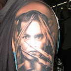 arm Edward Scissorhands - Johnny Depp Tattoos Pictures