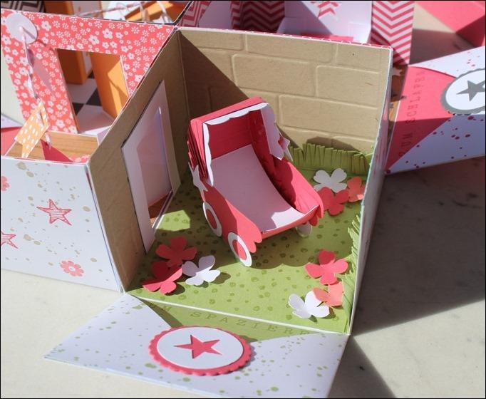 Baby Explosion Box vierfach Kinderzimmer Kinderwagen Garten Girl 03