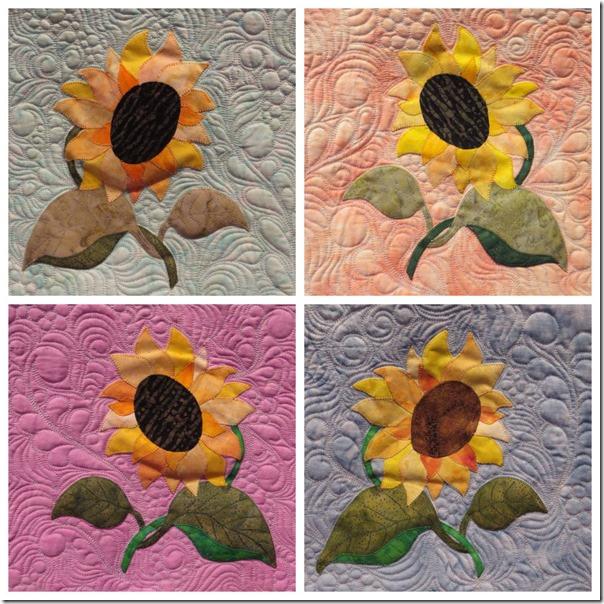 Sallys Sunflowers x four
