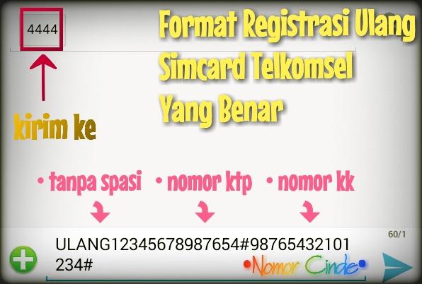 Bonus Kuota Internet 500MB Dari Registrasi Ulang Kartu Simcard Telkomsel  NOMOR CINDE