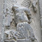 Ancienne église Saint-Pierre : détail du porche