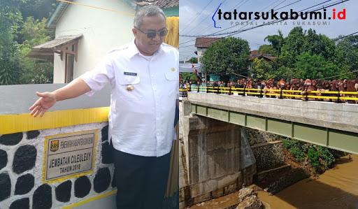 Marwan Hamami resmikan jembatan penghubung Parungkuda Ciambar / Foto : Isep Panji (10/1/2019)