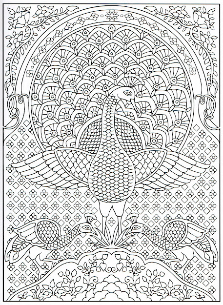 Peacock Coloring Page For Adults