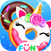 Cook Donut Maker - Unicorn Food Baking Games