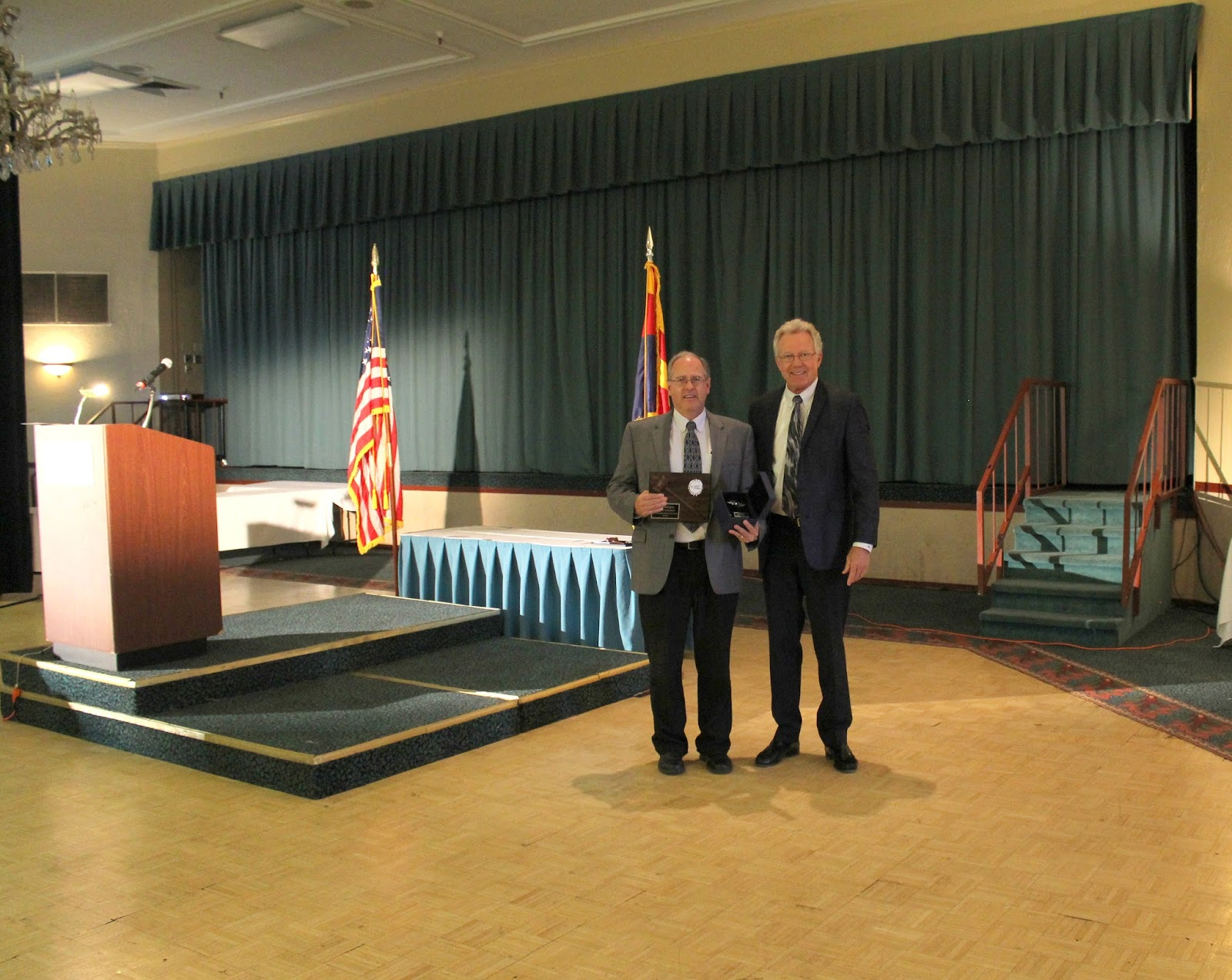 Kurt Wadlington, Sundt accepting award for his service on the Board of Directors. Kurt was also Chairman 2013/14.