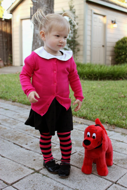 worn a variety of different outfits over the years but i decided to stick with the pink and black ensemble she wears for the clifford the big red dog - Clifford The Big Red Dog Halloween Costume