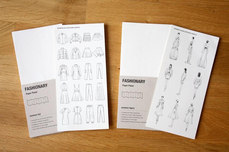 fashionary womenswear panel figure flat template set