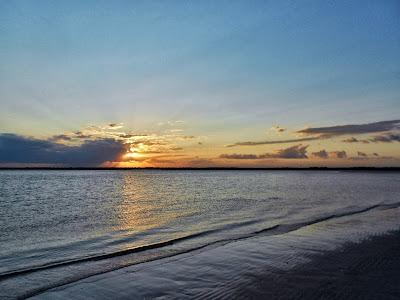Sunset over Bear Inlet