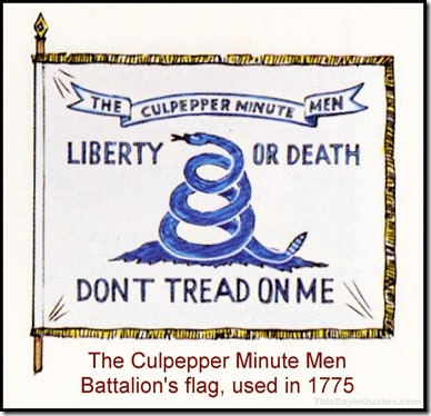 Culpeper Minutemen 'Liberty or Death' flag