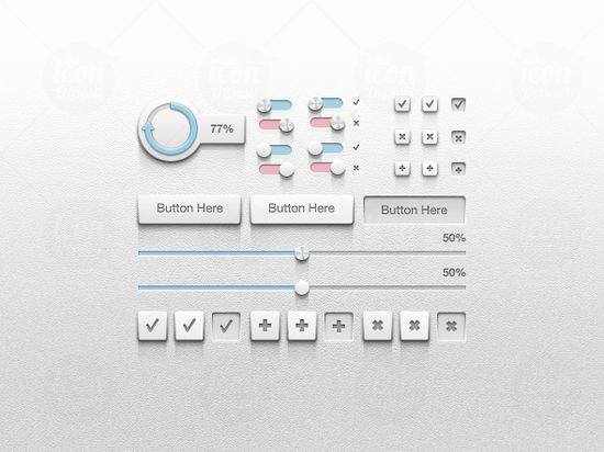 Detailed UI Kit 20 useful UI elements PSDs