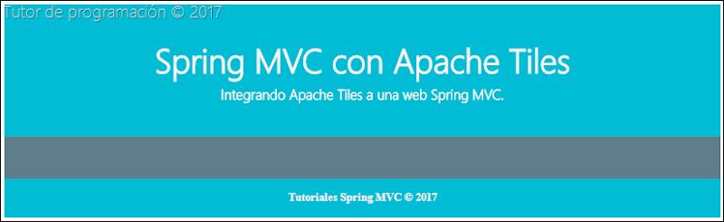 Apache Tiles en Spring Web MVC
