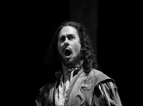 IN PERFORMANCE: Bass-baritone BRIAN BANION as Sparafucile in Piedmont Opera's production of Giuseppe Verdi's RIGOLETTO, October 2015 [Photo © by Traci Arney Photography; used with permission]