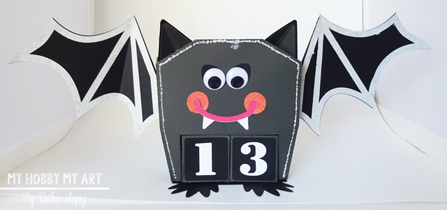 Halloween calendar, Bat, SnapDragon Snippets - Ruthie Lopez - My Hobby My Art