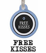 Free Kisses Two Sided Dog ID Tag