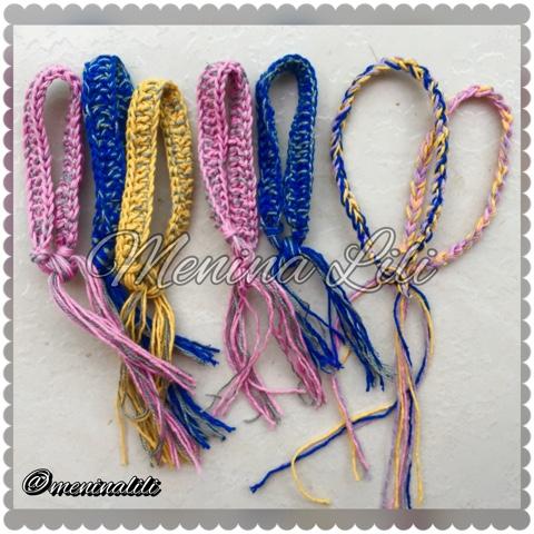 9913c2accb9 Menina Lili Croche  Pulseiras