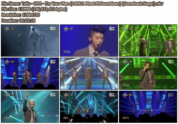 Download [Perf] 2PM – I'm Your Man + Go Crazy @ Mnet M