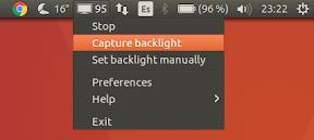 Como ajustar el brillo y aumentar la batería en Ubuntu - menu