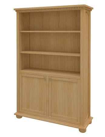 Valencia Wooden Door Bookshelf in Ginger Maple