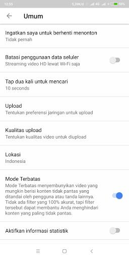 Cara Memblokir Konten Dewasa Pada Aplikasi Youtube