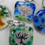 Glass Keychains created in a FunShop