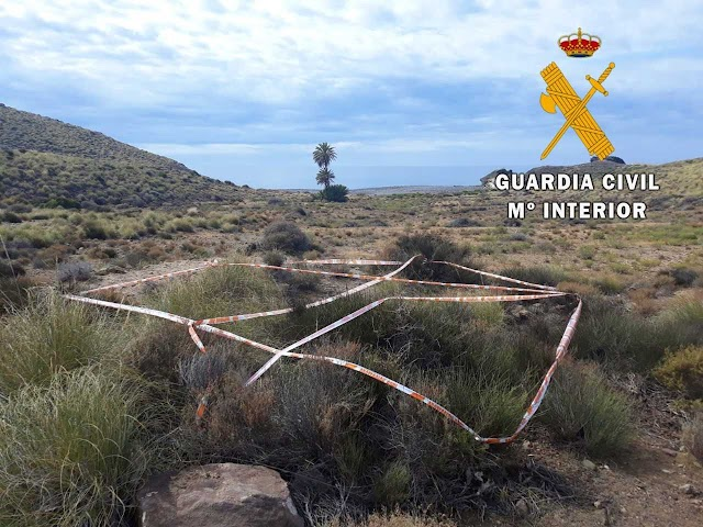 La Guardia Civil acotó la zona.