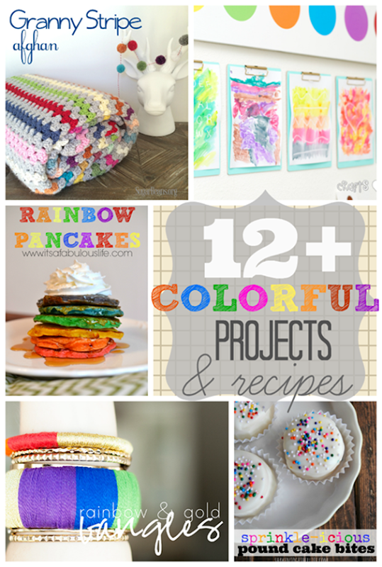 Over 12 Colorful Projects & Recipes at GingerSnapCrafts.com #linkparty #features #colorful #rainbow #color[5]