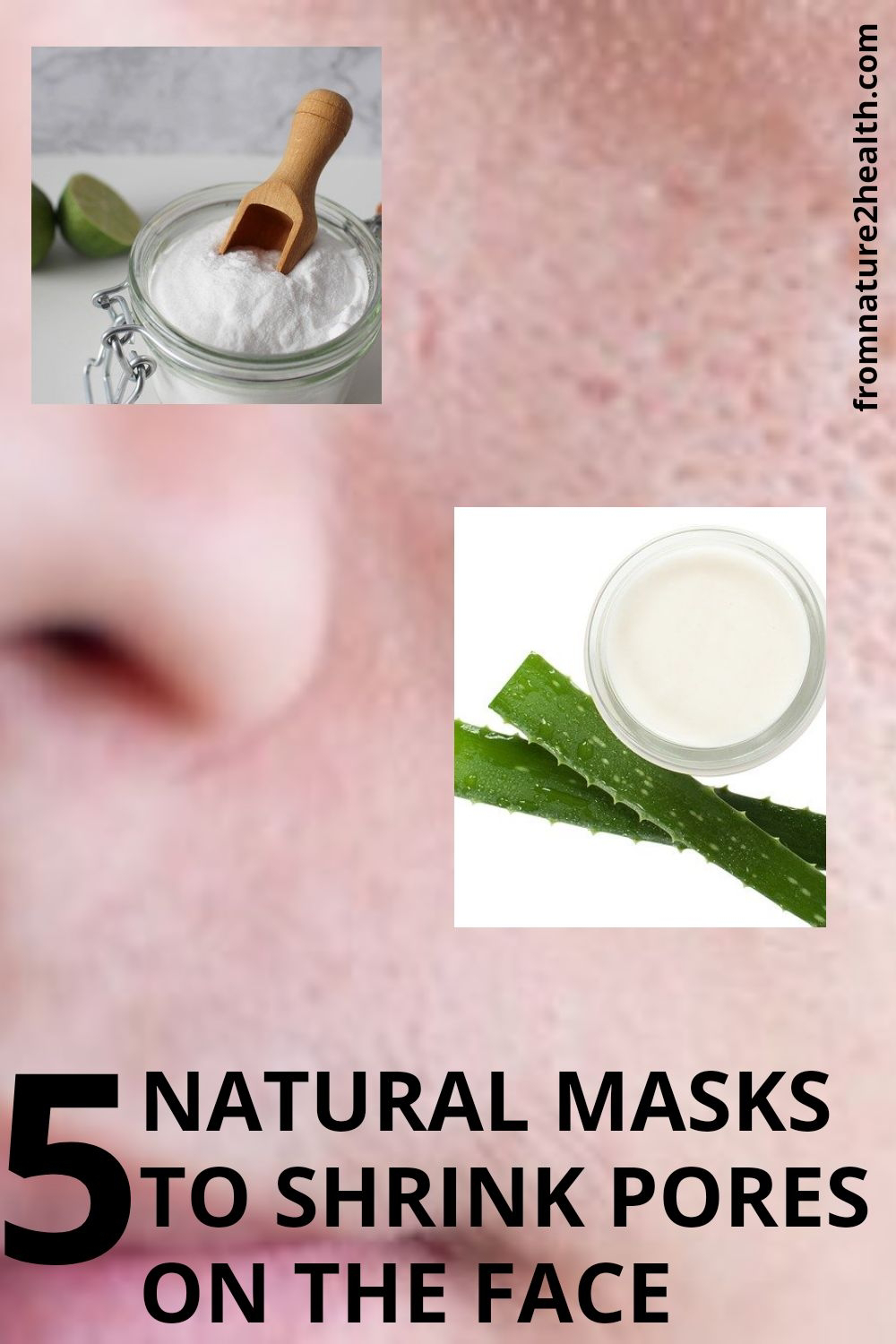 Apple Vinegar, Cucumber, Honey, Lemon is Natural Masks to Shrink Pores on the Face