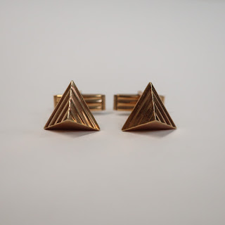 14K Gold Pyramid Cufflinks