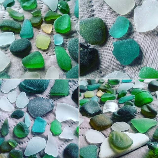 szkło z plaży sea glass szkło szlifowane przez morze plaża skarby z plaży piękne kolory szkła biżuteria ze szkła z plaży sea glass art seaglass jewelery